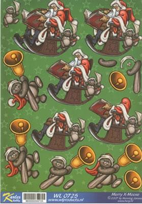 WL0725 Merry X-Moose Kerstman