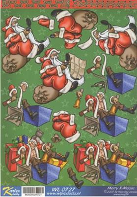 WL0727 Merry X-Moose Kerstman