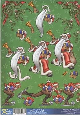 WL0728 Merry X-Moose Kerstman