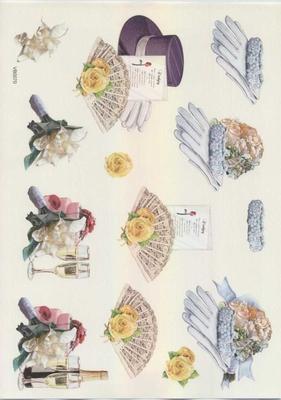 VB0070 Huwelijk Handschoenen/Hoed