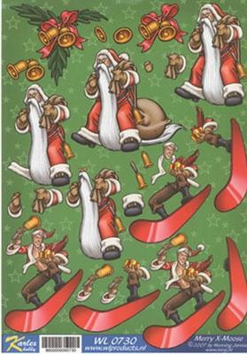 WL0730 Merry X-Moose Kerstman