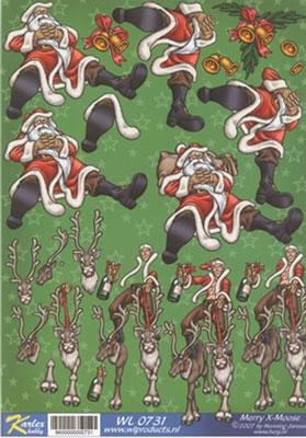 WL0731 Merry X-Moose Kerstman