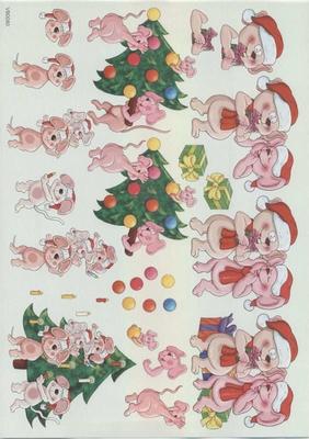 VB0080 Kerstboom/Muizen