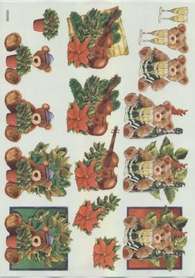 VB0086 Kerstbeer/Viool
