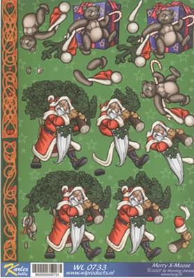 WL0733 Merry X-Moose Kerstman