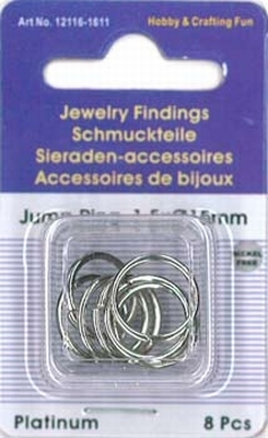 12116-1611 Jump ring rond platinum 15MMX1,5MM