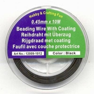 12009-1012 Rijgdraad met coating  0,45mm 10Mtr.