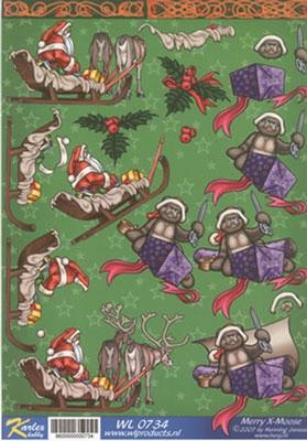 WL0734 Merry X-Moose Kerstman