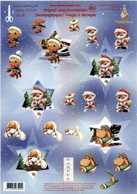505014 Knipvel  Leane Creatief Mylo & Friends Kerst