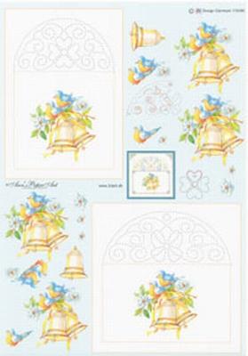 AN115086 Ann's Paper Art Kerstklokken Borduren