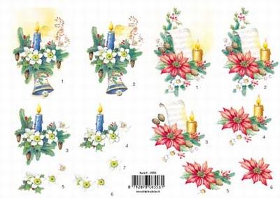 VB8556 Kerst Kaarsen