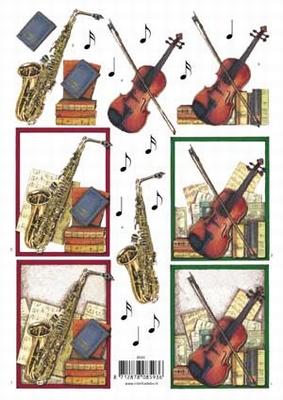 VB8593 Muziek instrumenten