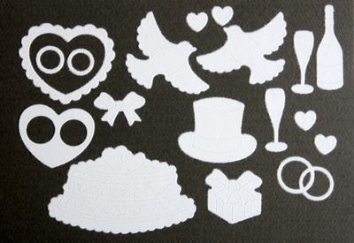 Velvet sticker wit Huwelijk