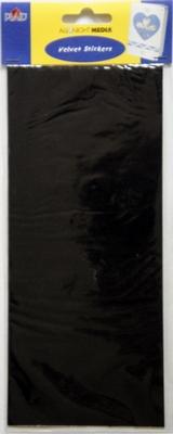 Vel 10 X 23 CM Zwart Velvet  Niet gestansd