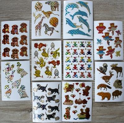 10 Leuke stickers serie 4  Afm. 10 X 7,5 Cm