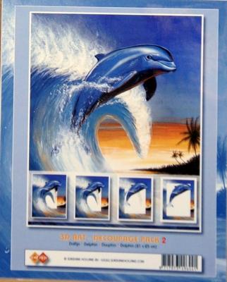 3D Schilderij 20X25cm dolfijn 5 lagen N2.