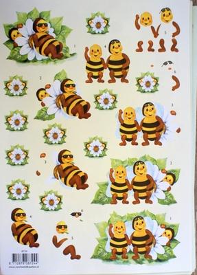 VB8724 A4 knipvel bijen