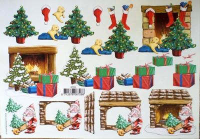 VB8726 A4 knipvel kerst