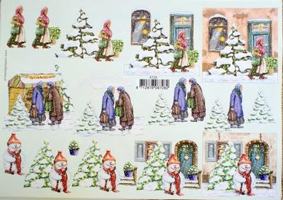 VB8728 A4 knipvel kerst