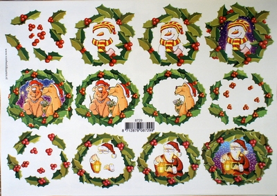 VB8729 A4 knipvel kerst