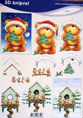 VB8750 A4 knipvel kerst