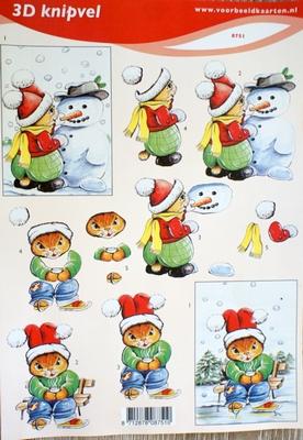 VB8751 A4 knipvel sneeuwpop