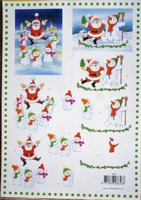 VB8656 A4 knipvel kerst