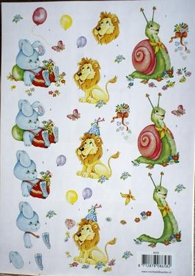 VB8658 A4 knipvel dieren