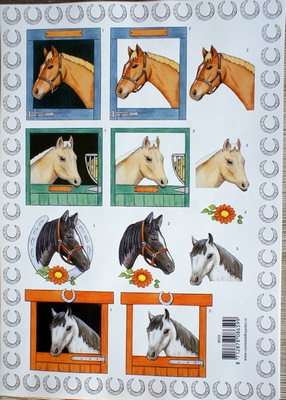 VB8659 A4 knipvel paarden