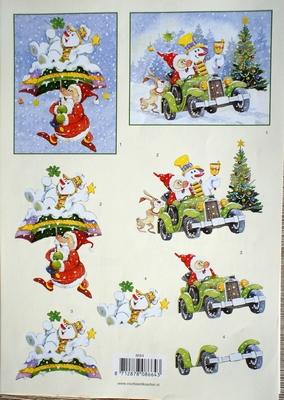 VB8664 A4 knipvel kerst