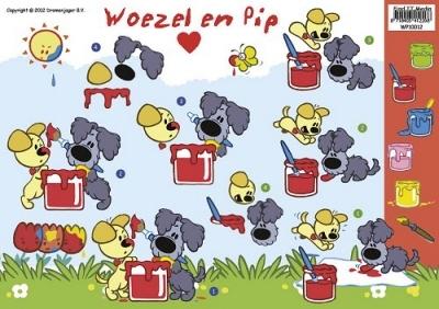 WP-10012 Woezel en Pip Verven