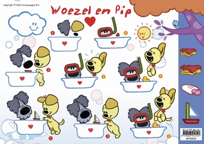 WP-10019 Woezel en Pip in bad
