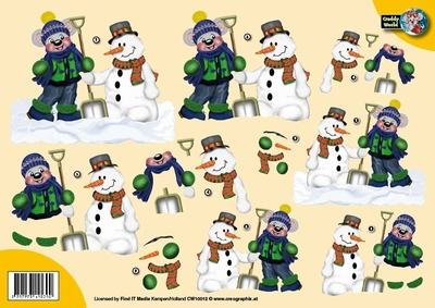 CW10012 Creddy world Sneeuwman
