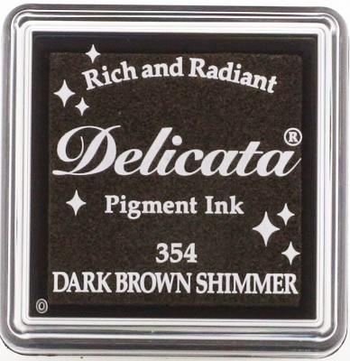 DE-SML-354 Delicata small inkpads Dark brown shimmer