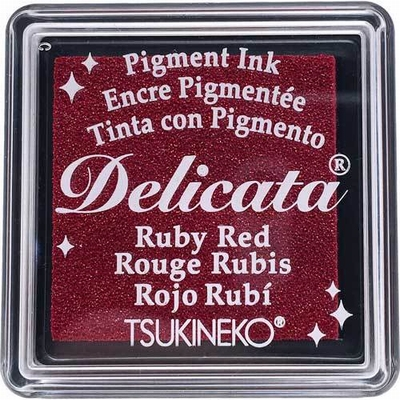 DE-SML-325 Delicata small inkpads Ruby red