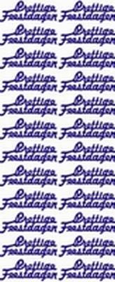 5 X ST510WM Sticker Prettige Feestdagen Wit/Multi