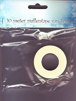 Z 09.03.11.006 mallen tape10 mtr, 1cm breed