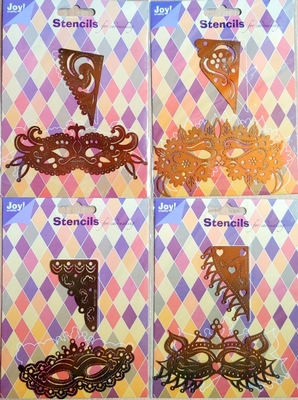 4 Masker stencils voor borduren etc. van JoyCrafts