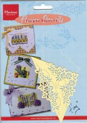 EE3436 - Marianne Design Tiny`s Flower stencil 2