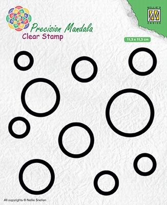 MANCS003 Precision Mandala Clear stamps Circles