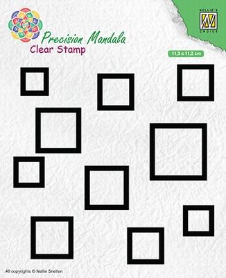 MANCS004 Precision Mandala Clear stamps Squares