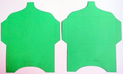 SK022 - 2 Knutselcadeau enveloppen Groen