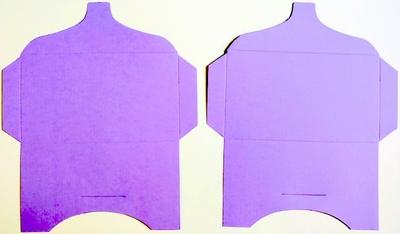SK018 - 2 Knutselcadeau enveloppen Violet