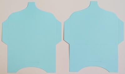 SK028 - 2 Knutselcadeau enveloppen Lichtblauw