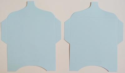 SK026 - 2 Knutselcadeau enveloppen Zachtblauw
