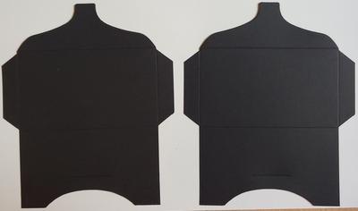 SK031 - 2 Knutselcadeau enveloppen Zwart