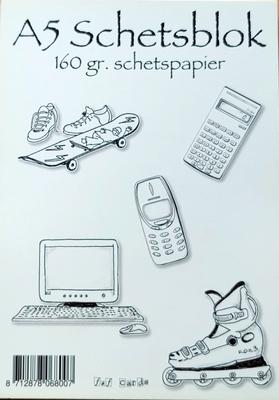 Schetsboek 30 vel A5  160gr.