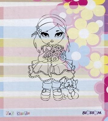 Bloss01 Blossom stempel