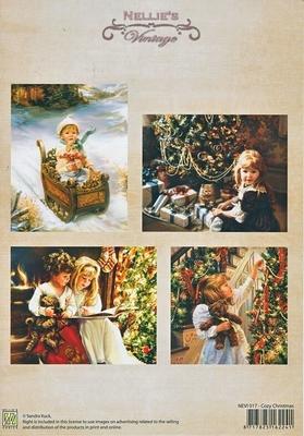 "NEVI017 Knipvel A4  vintage colour  ""Cozy Christmas"""