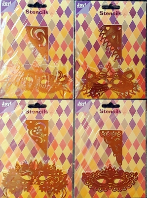 4 Stencils venetiaansmasker van JOY